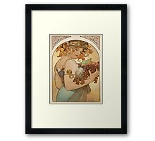 Vintage poster - Woman with fruit Framed Print