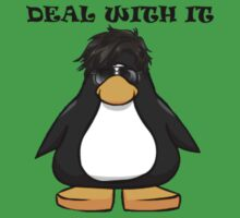 Deal With It Penguin One Piece - Short Sleeve