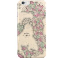 Vintage Map of Italy (1864) iPhone Case/Skin