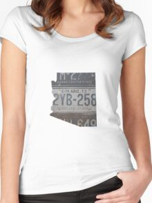 Vintage Arizona License Plates Women's Fitted Scoop T-Shirt