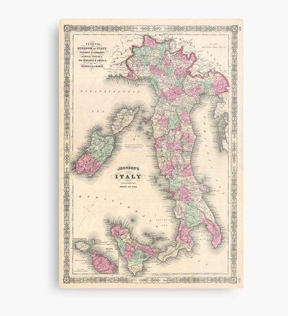 Vintage Map of Italy (1864) Metal Print