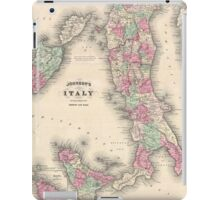 Vintage Map of Italy (1864) iPad Case/Skin