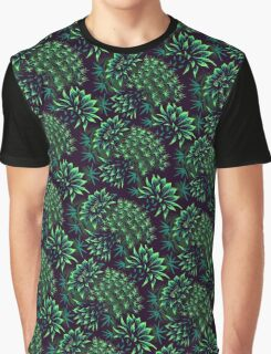 Cactus Floral - Green Graphic T-Shirt