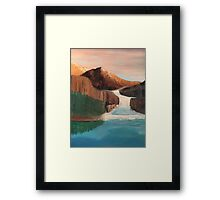 Waterfall in the Mountains Framed Print