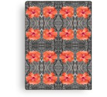 Hibiscus Patterns Canvas Print