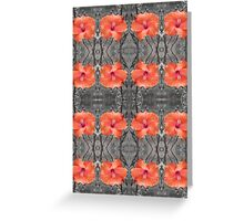 Hibiscus Patterns Greeting Card