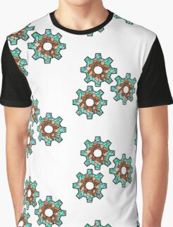3 Gears Mosaic Graphic T-Shirt