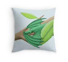 Tiny Green Tree Dragon Throw Pillow
