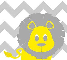 Lion Baby Room - Yellow - Gray by hypetees