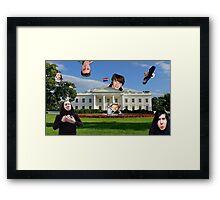 Youtuber white house mashup Framed Print
