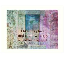 Shakespeare humorous whimsical  quote whimsical  Art Print
