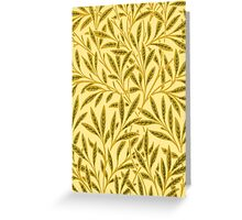 William Morris Willow, Mustard Yellow Greeting Card