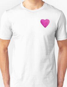 Watercolor Pink Heart Unisex T-Shirt
