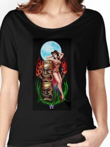 Tiki Moon (original painting) Women's Relaxed Fit T-Shirt