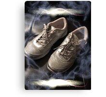 Arthritic silver dancing shoes Canvas Print