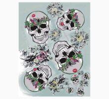 Pretty tough skulls Kids Tee