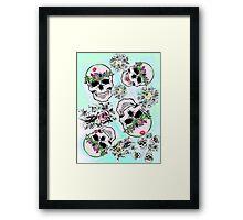 Pretty & tough, skulls & flowers Framed Print