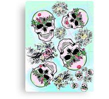 Pretty tough skulls Canvas Print