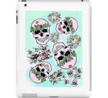Pretty & tough, skulls & flowers iPad Case/Skin