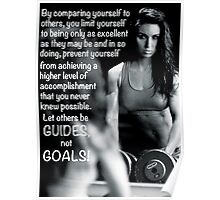 Guides vs Goals Poster