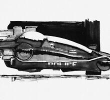 Blade Runner Police Spinner Art by Pixel Glitch