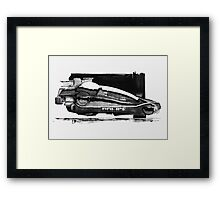 Blade Runner Police Spinner Art Framed Print