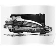 Blade Runner Police Spinner Art Poster