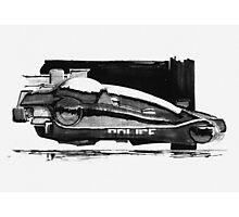 Blade Runner Police Spinner Art Photographic Print