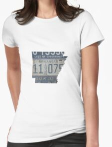 Vintage Arkansas License Plates Womens Fitted T-Shirt