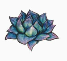 Succulent Drawing One Piece - Short Sleeve