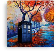 Tardis Autumn Alley Canvas Print