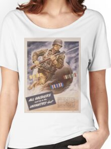 Vintage poster - U.S. Infantry Women's Relaxed Fit T-Shirt