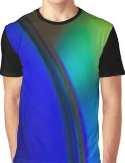 BLUE AND GREEN GRADIENT Graphic T-Shirt