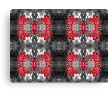 Fuchsia Coloursplash Patterns Canvas Print