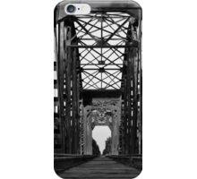 Brookshire Rail Road Bridge BW II iPhone Case/Skin