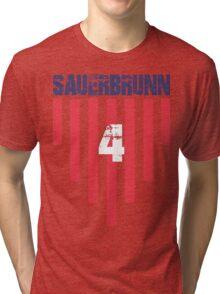 Becky Sauerbrunn #4 | USWNT Olympic Roster Tri-blend T-Shirt