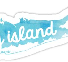 Long Island blue watercolor outline Sticker