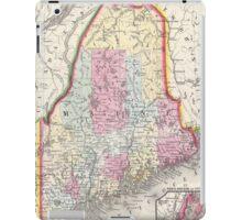 Vintage Map of Maine (1864) iPad Case/Skin