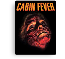Cabin Fever Skull Face Canvas Print