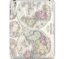 Vintage Map of The World (1864) 3 iPad Case/Skin