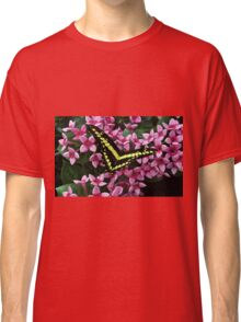 Swallowtail on Pink Flower Classic T-Shirt