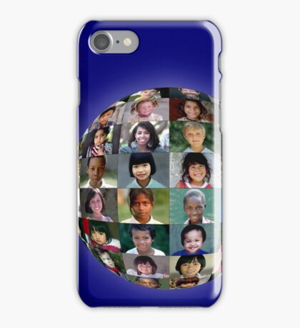The Faces of Children Around the Earth iPhone Case/Skin