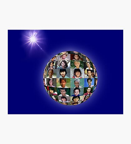 The Faces of Children Around the Earth Photographic Print