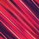 Modern Red / Black Stripe Abstract Stream Lines Texture Design  by badbugs