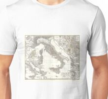 Vintage Map of Italy (1865) Unisex T-Shirt