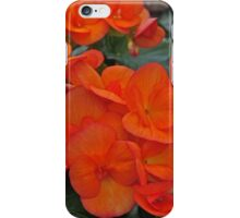 Orange Begonia iPhone Case/Skin