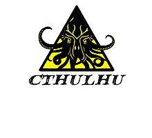 Warning Cthulhu hazard Photographic Print