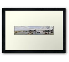 Bridlington Harbour. A Panoramic View Framed Print