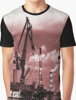 Gdansk Cranes in red  Graphic T-Shirt
