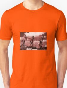 Gdansk Cranes in red  Unisex T-Shirt
